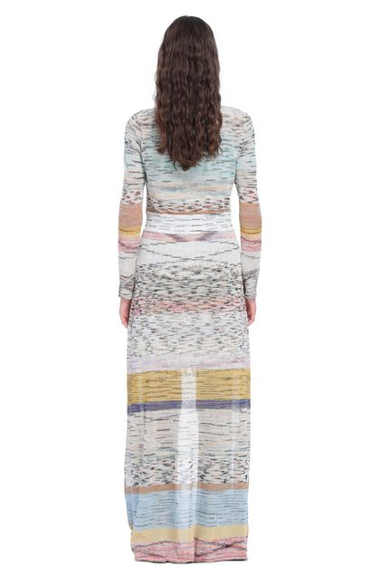 MISSONI Long cardigan Beige Woman - Front