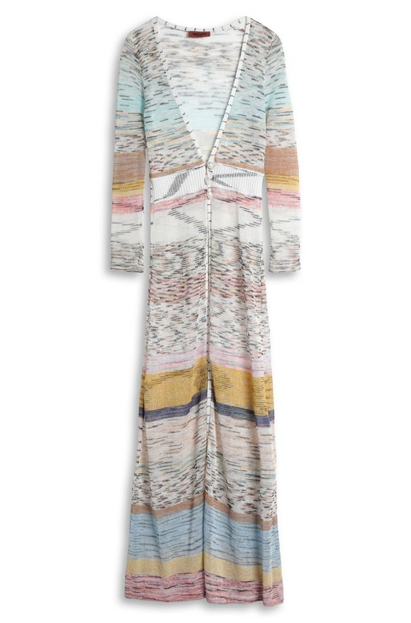 MISSONI Long cardigan Beige Woman