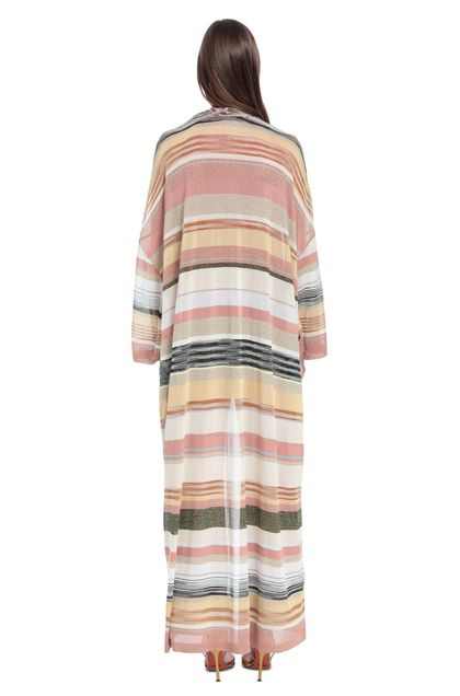 MISSONI Long cardigan Pastel pink Woman - Front