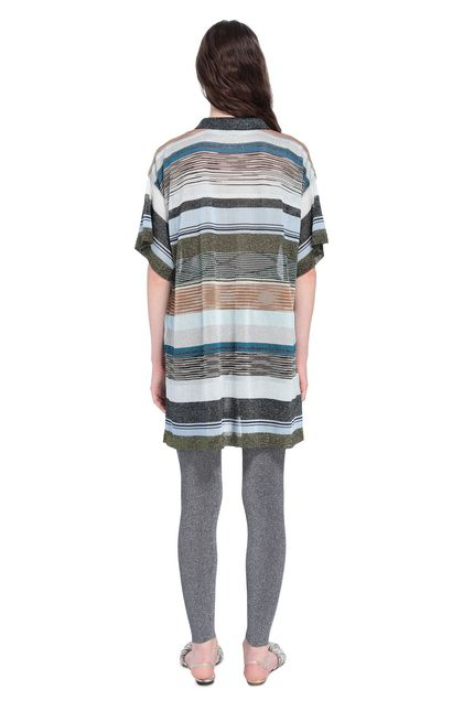 MISSONI Long-sleeved polo shirt Blue Woman - Front