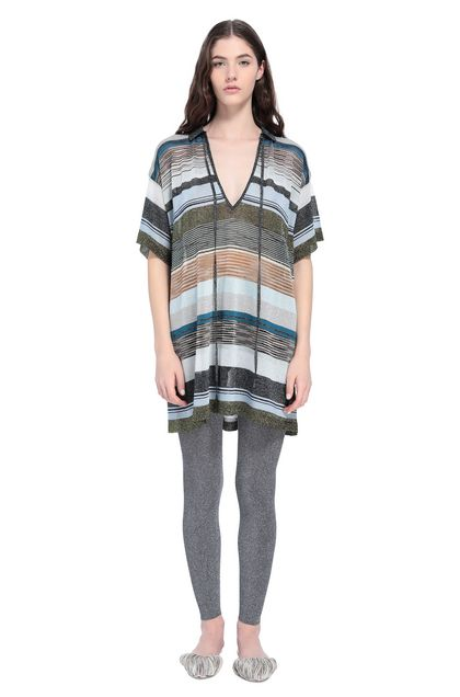 MISSONI Long-sleeved polo shirt Blue Woman - Back