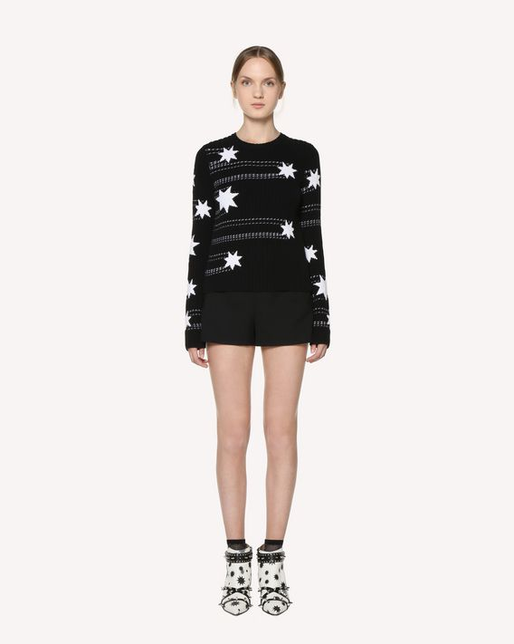 REDValentino Stars jacquard cotton sweater