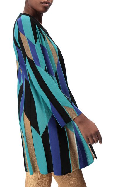 M MISSONI Long cardigan Turquoise Woman - Front