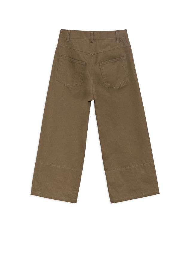 Marni PANTS IN COTTON GABARDINE WITH CONTRASTING COLOR CUFFS Man - 3