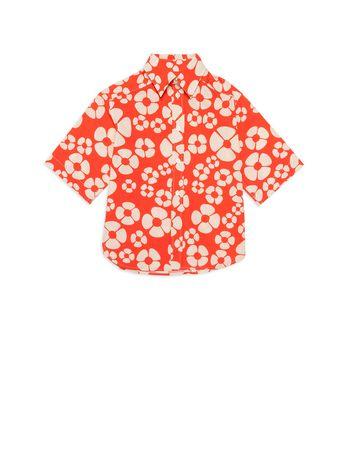 Marni コットンポプリン ショートスリーブシャツ オールオーバ メンズ