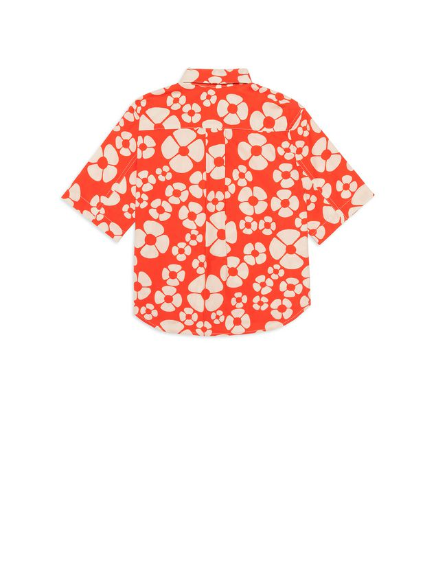 Marni SHORT-SLEEVES SHIRT IN WOODSTOCK PRINTED COTTON POPELINE Man - 3