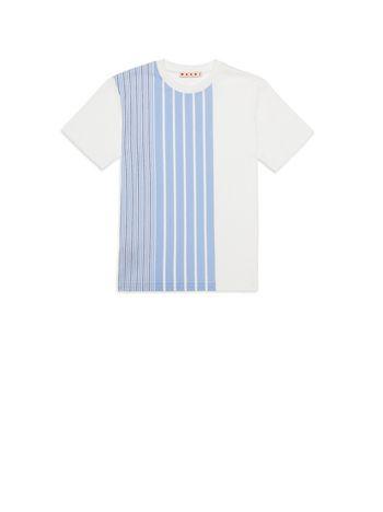 Marni T-shirt in cotone con stampa a righe Uomo