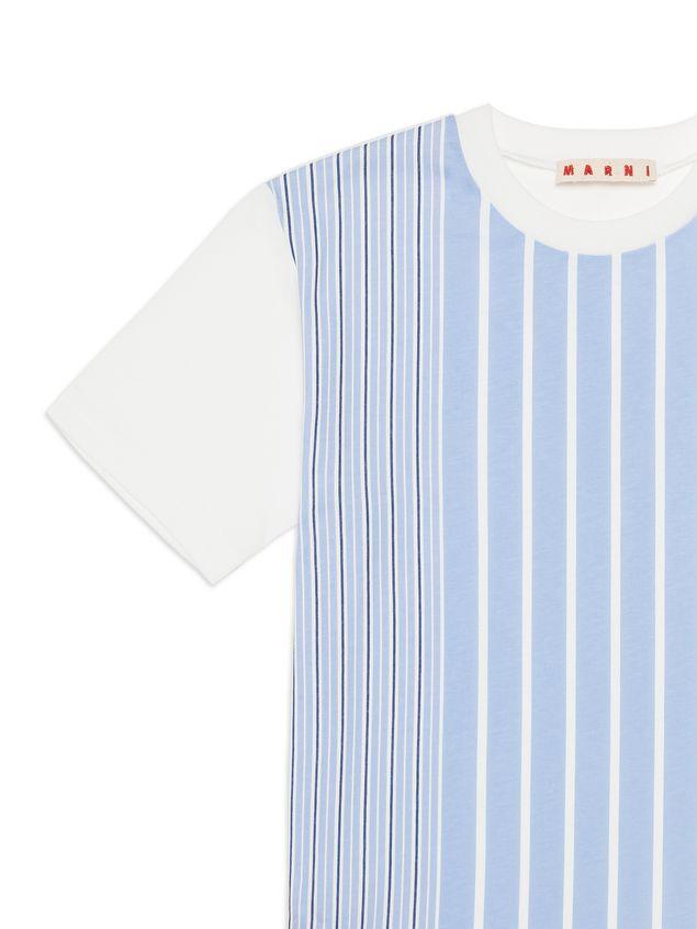Marni Cotton t-shirt with striped print Man - 4