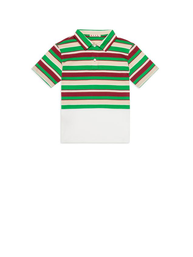 Marni Polo in cotton striped jersey Man - 1