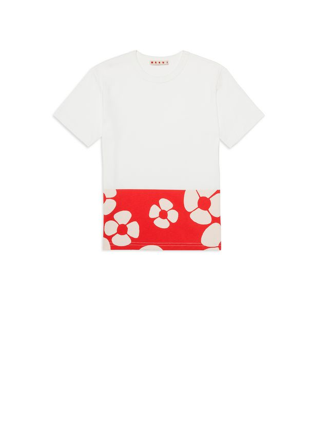 Marni Cotton T-shirt with Woodstock print Man - 1