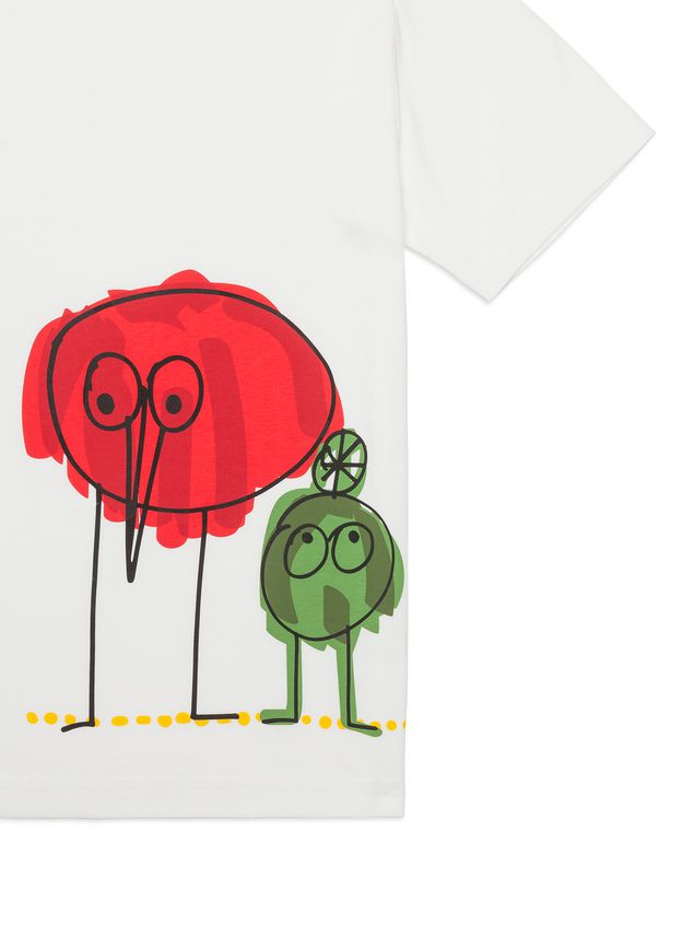 Marni Cotton T-shirt with Woolly Friends print Man - 2