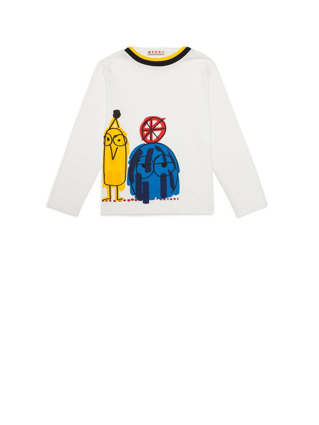 Marni Cotton T-shirt with Woolly Friends print Man - 1