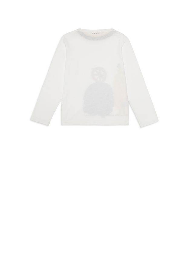 Marni Cotton T-shirt with Woolly Friends print Man - 3