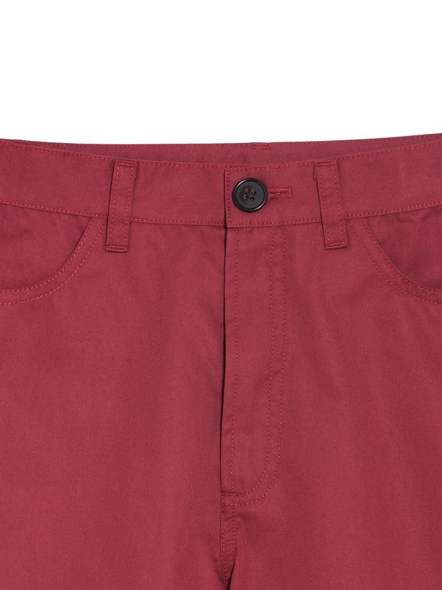 Marni Short pants in bordeaux cotton Man - 4