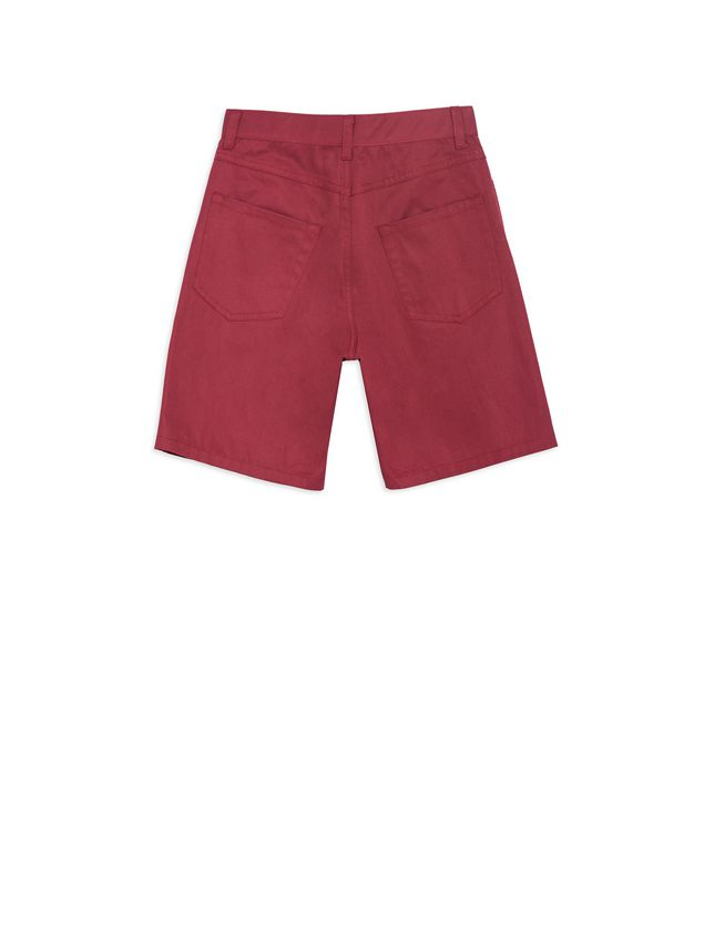 Marni Short pants in bordeaux cotton Man - 3
