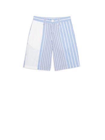 Marni Pantaloni corti in cotone a righe Uomo