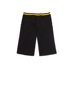 Marni Short pants in black fleece Man