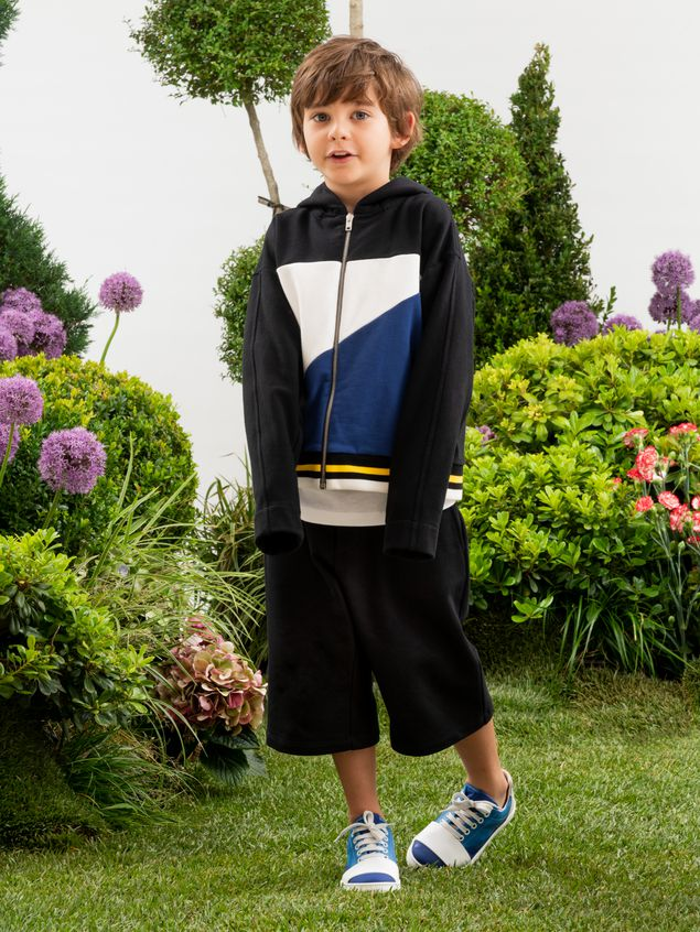 Marni Short pants in black fleece Man - 2
