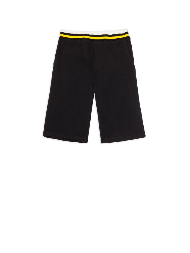 Marni Short pants in black fleece Man - 1