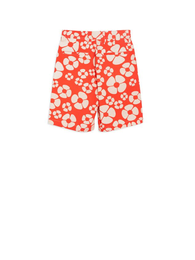 Marni Short pants in cotton Hawaii print Man