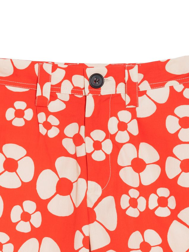 Marni Short pants in cotton Hawaii print Man - 4
