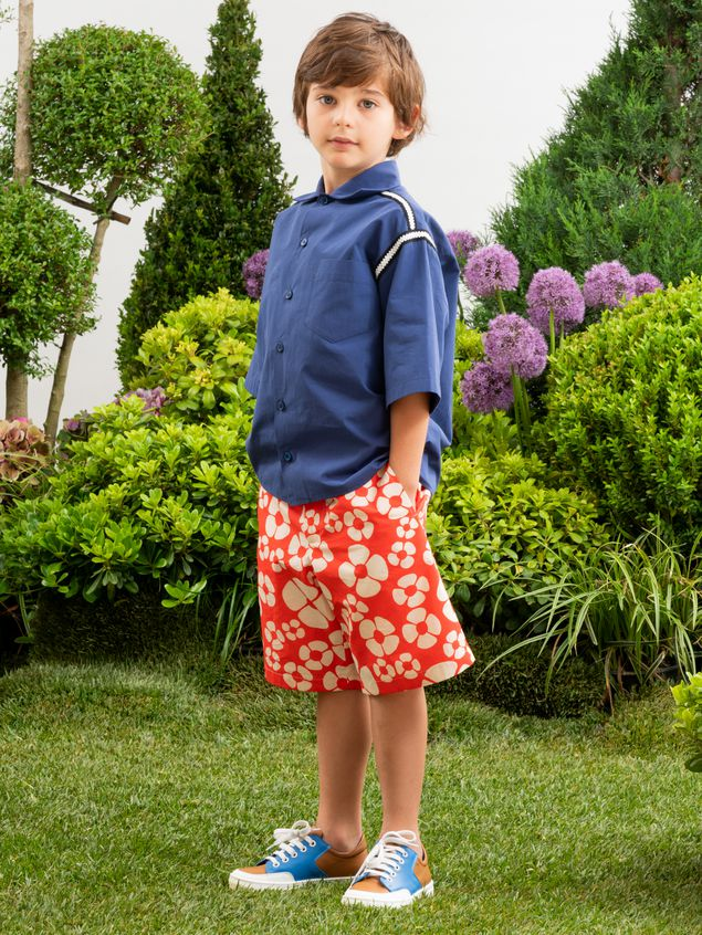 Marni Short pants in cotton Hawaii print Man - 2
