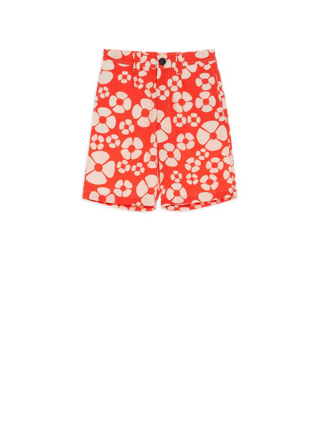 Marni Short pants in cotton Hawaii print Man - 1