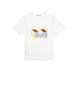 Marni Cotton T-shirt with Print Man