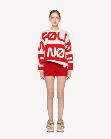 "REDValentino Wollpullover mit ""Follow Me Now""-Jacquardmotiv"