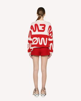 "REDValentino ""Follow Me Now"" jacquard wool jumper"