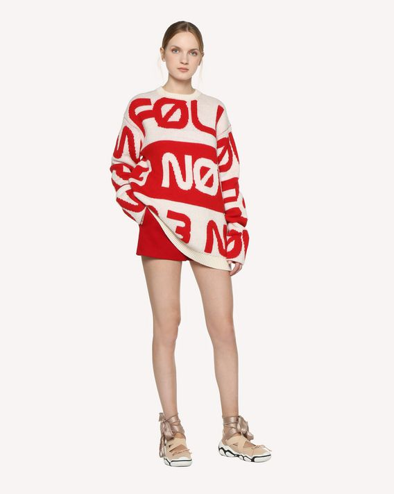 "REDValentino ""Follow Me Now"" jacquard wool sweater"