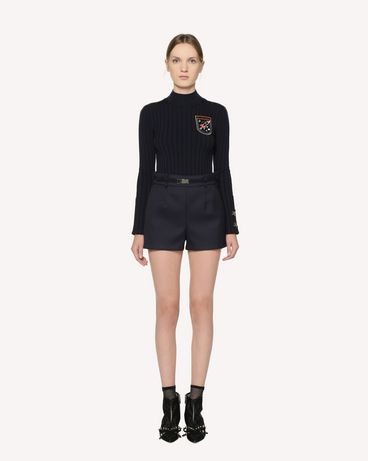 REDValentino  Stretch viscose jumper with embroidered space patches