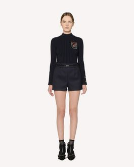 REDValentino  Stretch viscose sweater with embroidered space patches