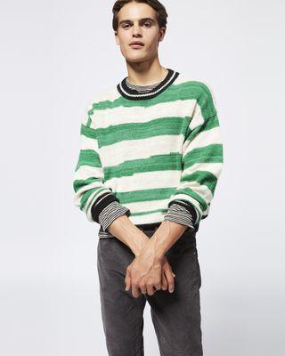 ISABEL MARANT 롱 슬리브 스웨터 남성 SOLWY 스웨터 r