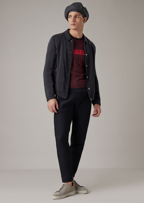 Jersey con bordado Gorgeous y motivo chevrón de jacquard