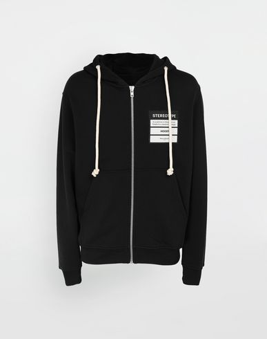 KNITWEAR Stereotype hooded sweatshirt Black