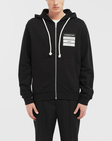 SWEATERS Stereotype hooded sweatshirt Black