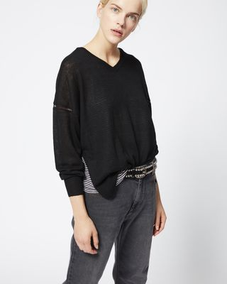 ISABEL MARANT ÉTOILE LONG SLEEVE SWEATER Woman FIELD sweater r