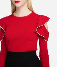 KARL LAGERFELD Ruffle Sleeve Sweater 9_f