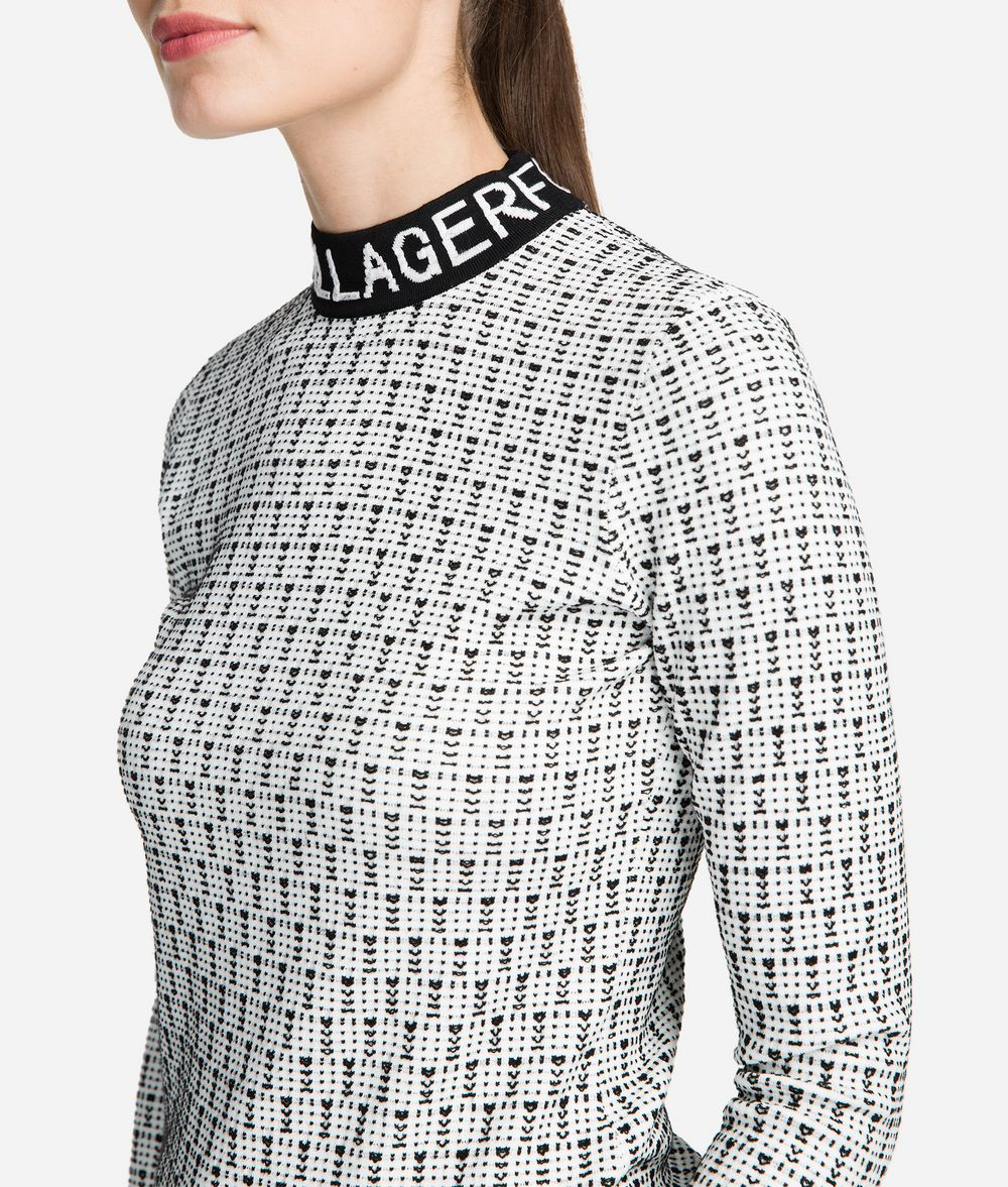 KARL LAGERFELD Logo Mock Neck Sweater Sweater Woman d
