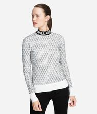 KARL LAGERFELD Logo Mock Neck Sweater 9_f