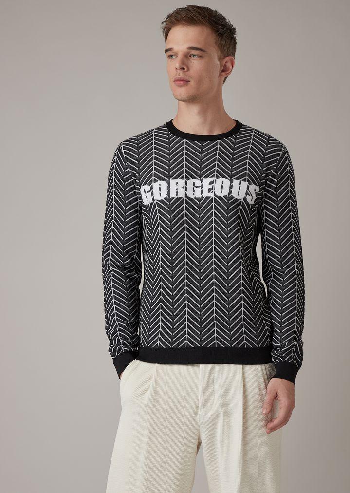 512c0da2dc Chevron jacquard sweater with Gorgeous embroidery
