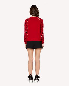 "REDValentino ""Stars and shadows"" jacquard stretch viscose sweater"