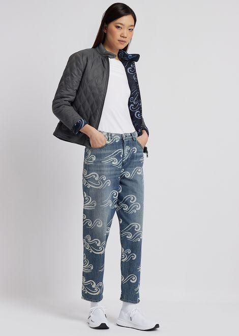 Jersey de manga corta de punto elástico con pliegues drapeados