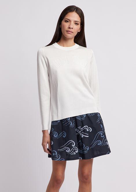 Jersey con elaboración calada y logotipo bordado
