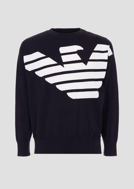 Jersey de algodón puro con logotipo