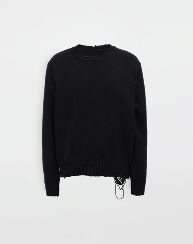 MAISON MARGIELA Crewneck sweater [*** pickupInStoreShippingNotGuaranteed_info ***] Destroyed knit pullover f
