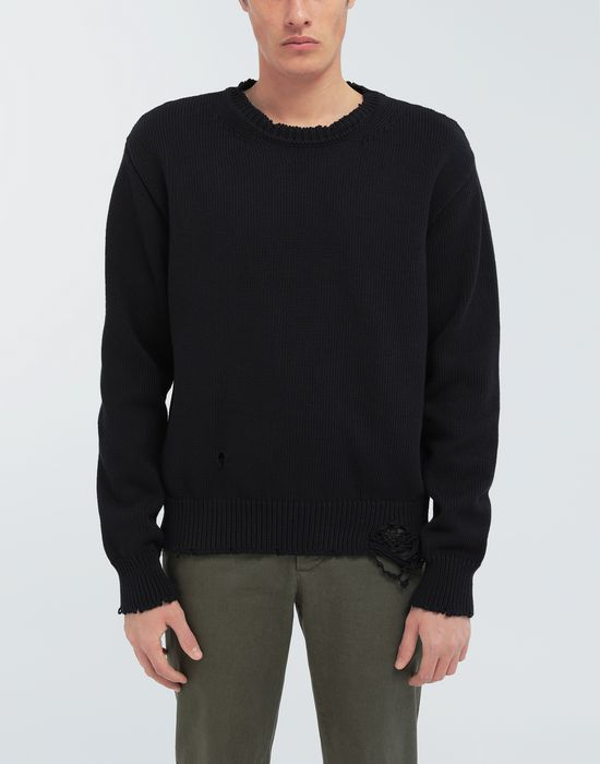 MAISON MARGIELA Destroyed knit pullover Crewneck sweater [*** pickupInStoreShippingNotGuaranteed_info ***] r