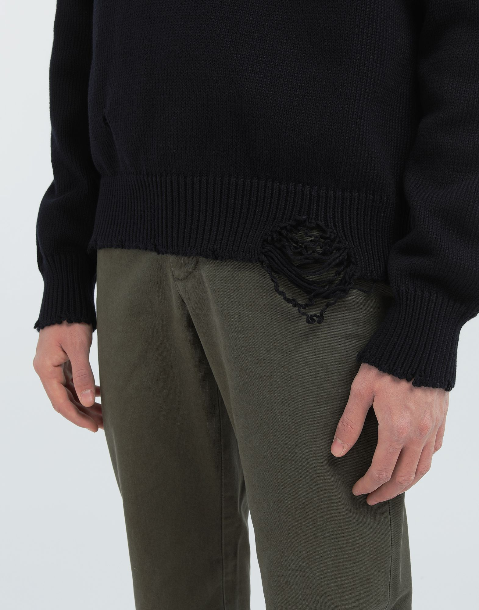 MAISON MARGIELA Destroyed knit pullover Crewneck Man a