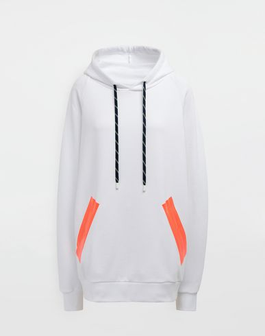MAISON MARGIELA Hooded sweatshirt [*** pickupInStoreShipping_info ***] Thermo-fused tape jersey sweatshirt f